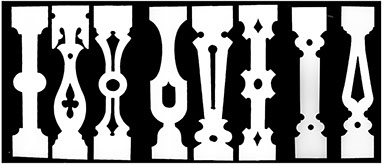 Authentic Victorian flat sawn porch and deck balusters.  The Victorian Woodshop  http://victorianwoodshop.com